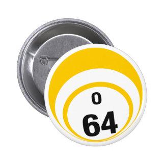 Botón de la bola del bingo O64 Pin