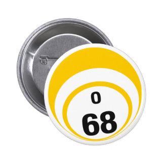 Botón de la bola del bingo O68 Pins