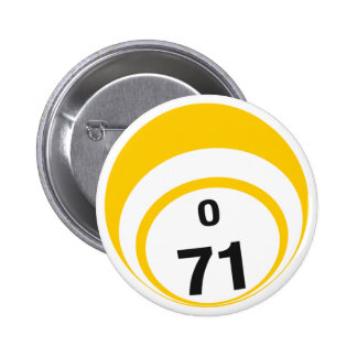 Botón de la bola del bingo O71 Pins