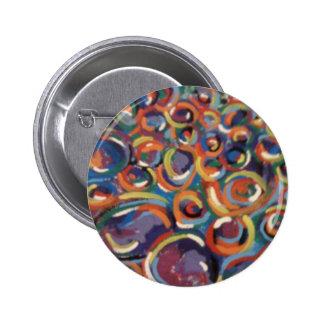 Botón de la burbuja del arte abstracto