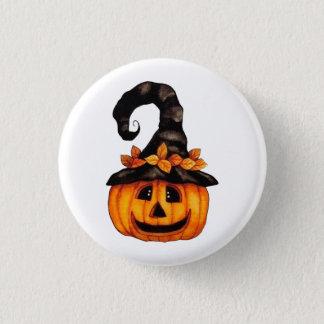 Botón de la calabaza de la Jack-o-Linterna de