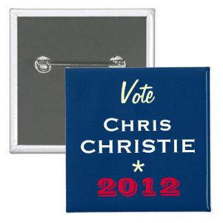 Botón de la campaña de CHRISTIE 2012 de Chris del