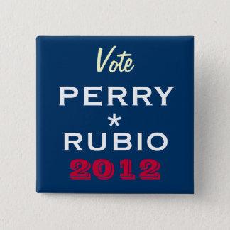 Botón de la campaña de PERRY/de RUBIO 2012
