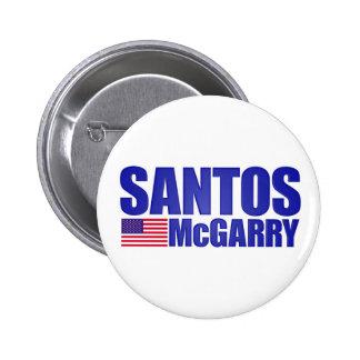 Botón de la campaña de Santos McGarry Pins