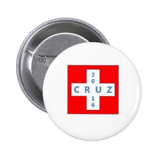 Botón de la campaña presidencial de Ted Cruz 2016