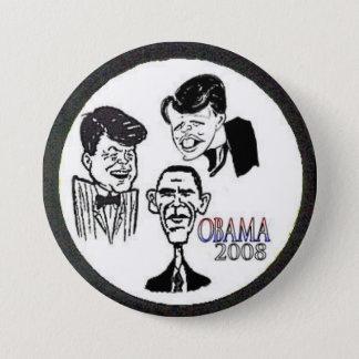 Botón de la caricatura de JFK/RFK/BHO