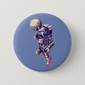 Botón de la clavada de la luna del astronauta -