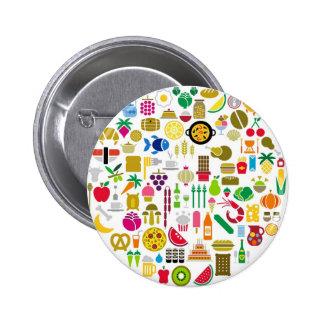 Botón de la comida pins