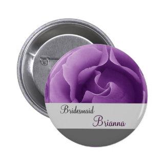 Botón de la DAMA DE HONOR con color de rosa