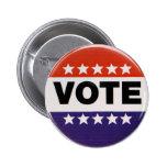 Botón de la elección del voto pin