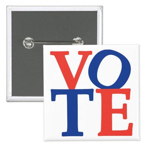 Botón de la elección del voto pins