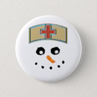 Botón de la enfermera del muñeco de nieve
