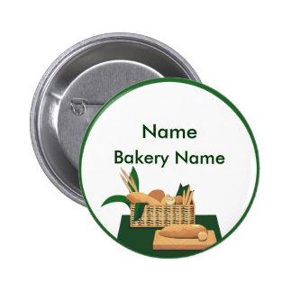 Botón de la etiqueta del nombre de la panadería de