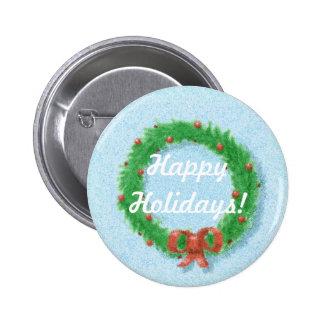 Botón de la etiqueta del regalo de la guirnalda de