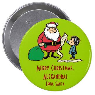 Botón de la etiqueta del regalo del navidad de la