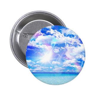 Botón de la fantasía de la playa pins