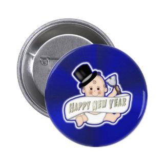 Botón de la Feliz Año Nuevo Pin