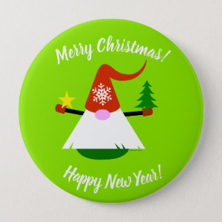 Botón de la Feliz Año Nuevo de las Felices Navidad