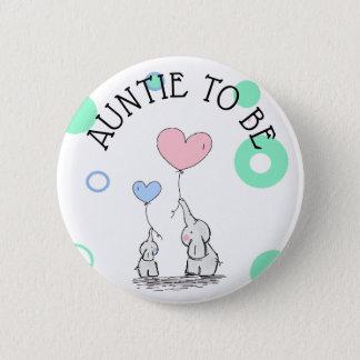 Botón de la fiesta de bienvenida al bebé de tía To