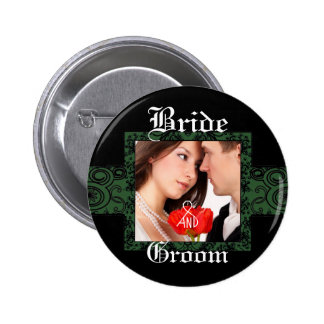 Botón de la foto de novia y del novio