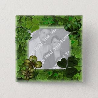 Chapa Cuadrada Botón de la foto del día de St Patrick