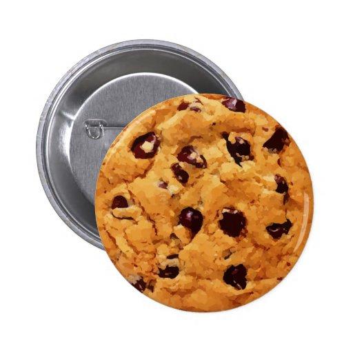 Botón de la galleta pin