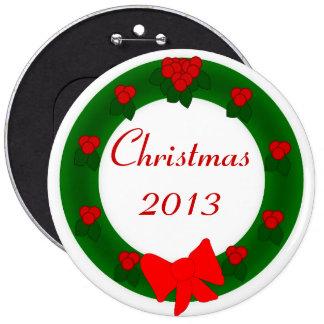 Botón de la guirnalda del navidad