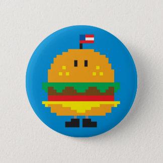 Botón de la hamburguesa - azul