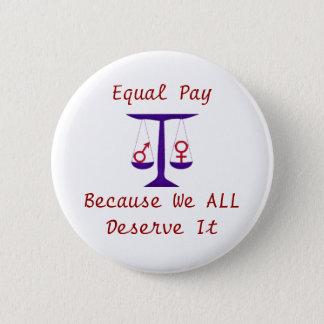 Botón de la igualdad de salario