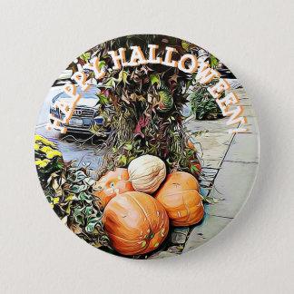 Botón de la imagen del feliz Halloween NYC