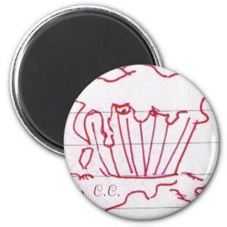 Botón de la magdalena de Creppy Imán Redondo 5 Cm