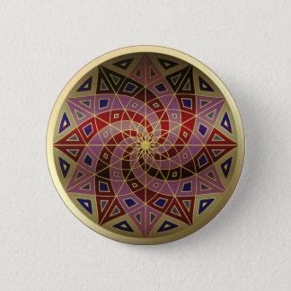 Botón de la mandala del accesorio de oro del