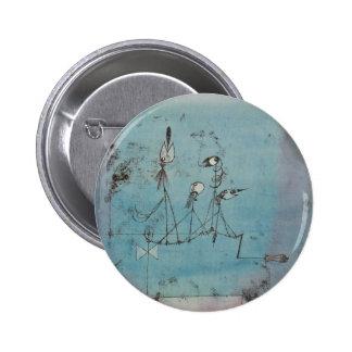 Botón de la máquina de Paul Klee Twittering Pins
