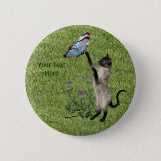 Botón de la mariposa del gato siamés