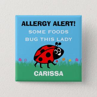 Botón de la mariquita de la alarma de la alergia