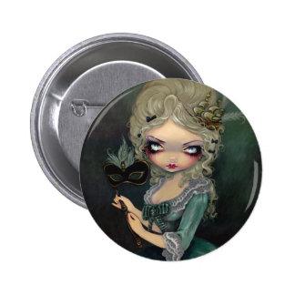 """Botón de la mascarada de Marie"" Chapa Redonda De 5 Cm"