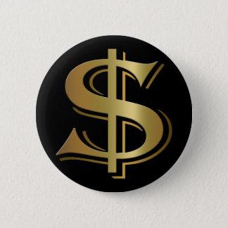 Botón de la muestra de dólar