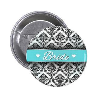 Botón de la novia con esquema de color azulado de