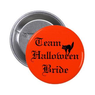 Botón de la novia de Halloween del equipo Pins