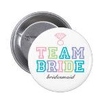 Botón de la novia del equipo pins