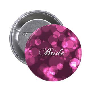 Botón de la novia del fiesta de Bachelorette [rosa Pin