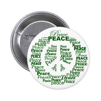 Botón de la paz - verde