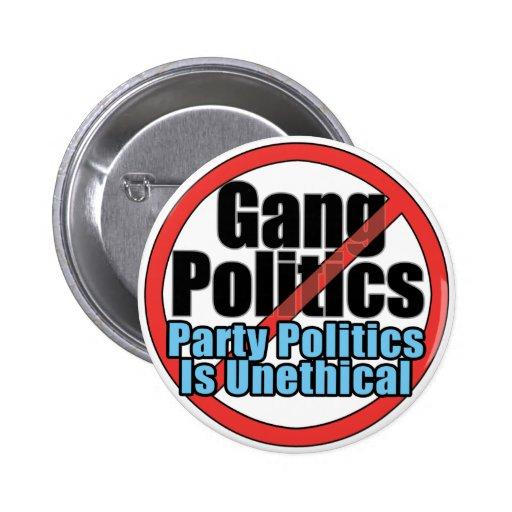 Botón de la política de la cuadrilla - la política pin