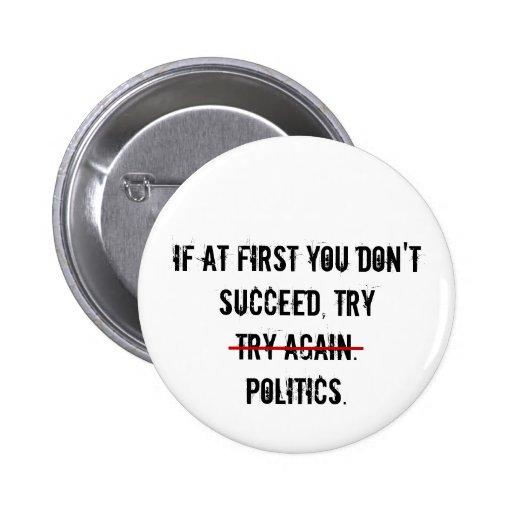 Botón de la política del intento pin