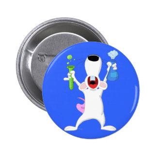 Botón de la rata del laboratorio del tubo de ensay