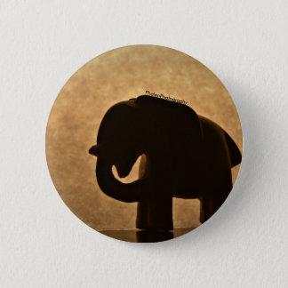 Botón de la silueta de la estatuilla del elefante