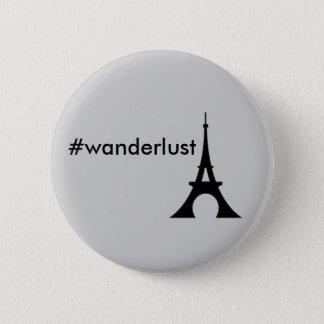 Botón de la torre Eiffel del Wanderlust