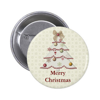 Botón de las Felices Navidad Pin