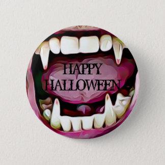 Botón de los colmillos del vampiro del feliz