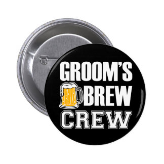 Botón de los padrinos de boda del equipo del Brew